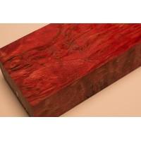 Messergriffblock Maserbirke stabilisiert 120x40x30 Rot